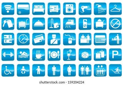 Vector icon for Hotel facilities