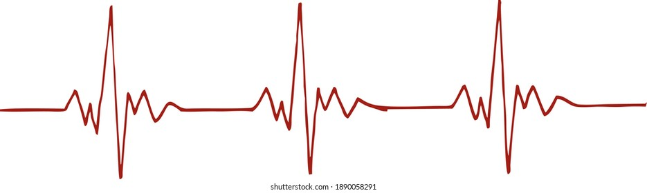 Vector icon of the human pulse line