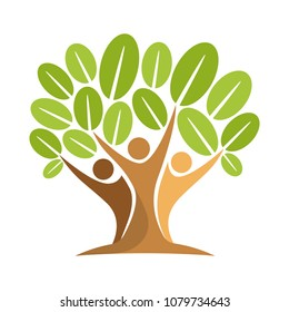 vector icon illustration with the concept of people tree
