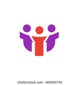 Vector icon or illustration showing friends company in material design style