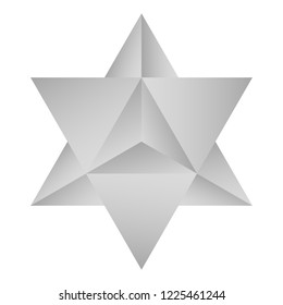vector icon with Kabbalah symbol Merkaba for your design
