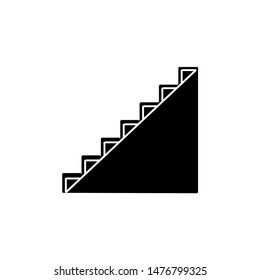 Vector icon of a ladder. Icon symbol of the escalator staircase sign