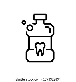 Vector icon for listerine