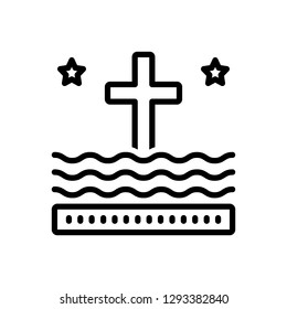 Vector icon for liturgy