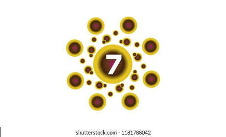 vector icon logo number 7