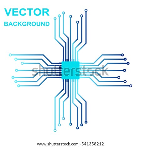 Awesome Vector Icon Logo Printed Circuit Board Stock Vector Royalty Free Wiring 101 Swasaxxcnl