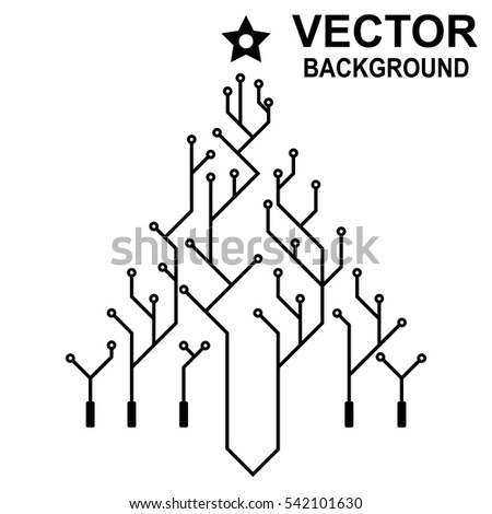Vector Icon Logo Printed Circuit Board Stock Vector Royalty Free