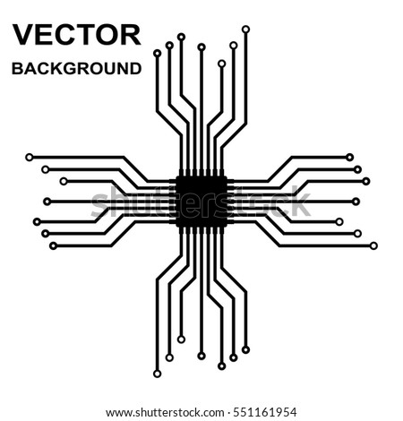 Wondrous Vector Icon Logo Printed Circuit Board Stock Vector Royalty Free Wiring 101 Swasaxxcnl