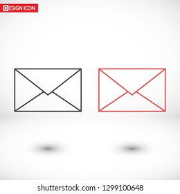 Vector icon mail 10 EPS