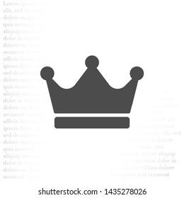 Vector icon man crown 10 EPS . Lorem Ipsum Illustration design