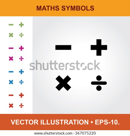 Vector Icon Maths Symbols Title Small Stock Vector Royalty Free