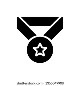 Vector icon of Medal. Achievement. Award.