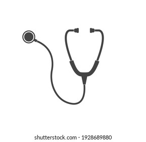 Vector icon medical phonendoscope. Layers grouped for easy editing illustration. For your design.