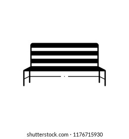 Vector icon for metal bench