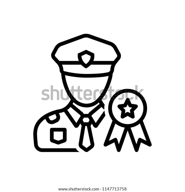 Vector icon for military