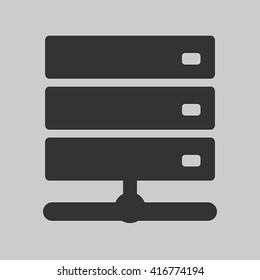 Vector icon of NAS or network attached storage server for web site, app in flat style design