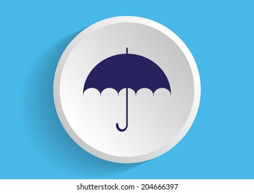 vector icon on a blue background