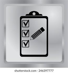 Vector icon of organizer.