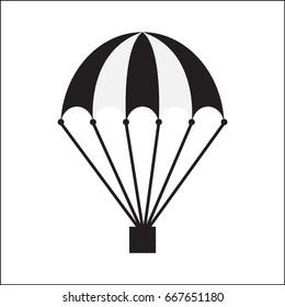 Vector icon of a parachute