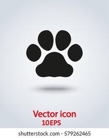 vector icon paw