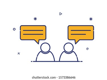 Vector icon of people chatting with speech bubble