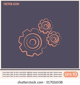 Vector icon pinion