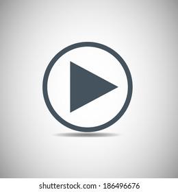 Vector icon Play button web icon,