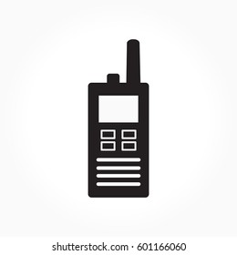 Vector icon portable radio. Walkie talkie logo.