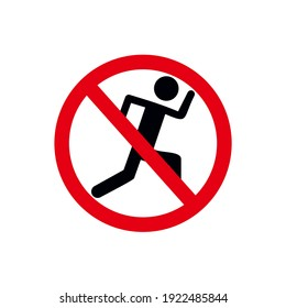Vector Icon Prohibited Running People