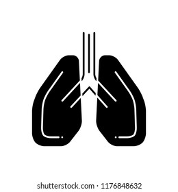 Vector icon for pulmonology