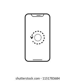 Vector icon for restart phone