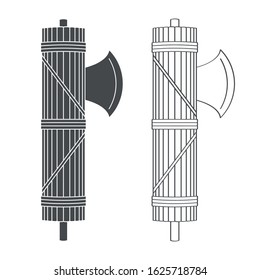vector icon with Roman Fasces