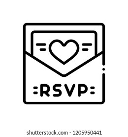 Vector icon for rsvp