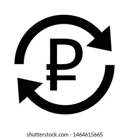 Vector icon ruble. Exchange of ruble currency. russian ruble icon. russian ruble sign. vector