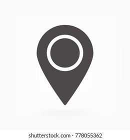 Vector icon search map 10 EPS