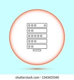 Vector icon server 10 EPS