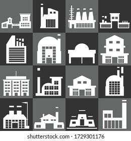 Vector icon set of Building factory and industry  Vector EPS10