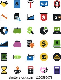 Vector icon set - handshake vector, audition, cash, dollar sign, wallet, growth graph, purse, pie, laptop, credit card, crisis, coin stack, annual report, bank building, receipt, sand clock, medal