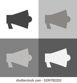 Vector icon set megafon on gray background
