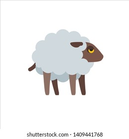 vector of icon sheep flat