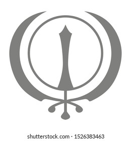 Vector icon with Sikh symbol Khanda