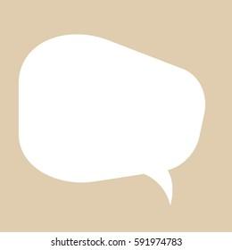 Vector icon of simple speech bubble