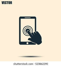 Vector icon Smartphone touchscreen icon concept