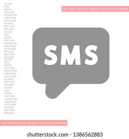Vector icon sms 10 EPS . Lorem Ipsum Illustration design