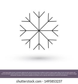 Vector icon snowflake 10 EPS . Lorem Ipsum Illustration design