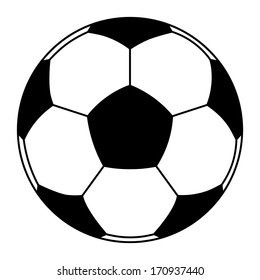 Vector icon of soccer ball isolated. clip-art