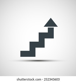 Vector icon of stairs in the form of arrows