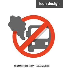 Vector icon sticker stop vehicle pollution