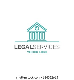 Vector Icon Style Illustration Logo of Legal Law Services, Investigation, Justice Authority, Isolated Banner