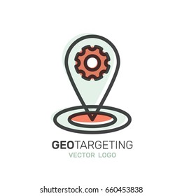Vector Icon Style Illustration Logo Set of Geo Location Tag, Proximity Marketing, Global Network Connection, Location Identification, Isolated Minimalistic Object